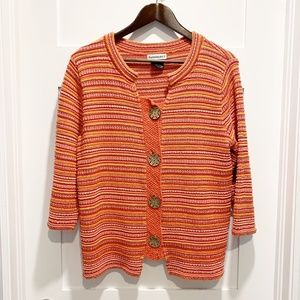 Parkhurst 3/4 Sleeve Cardigan Sweater w/ Buttons